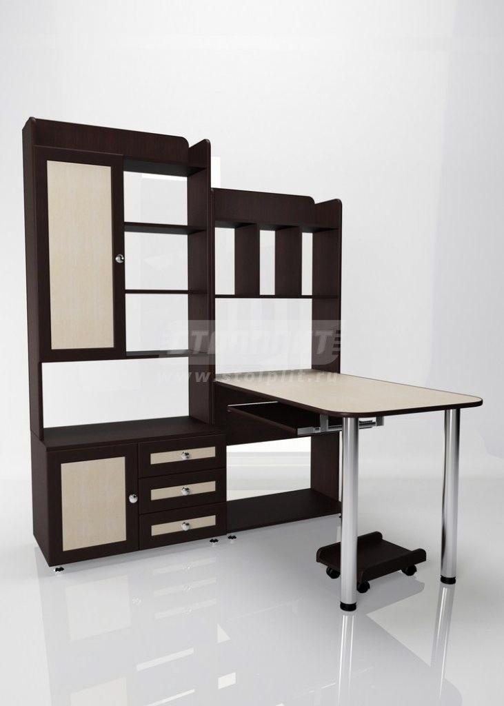 Стол для компьютера МБ – 20Компьютерные столы<br><br><br>Длина мм: 1540<br>Высота мм: 1930<br>Глубина мм: 1300