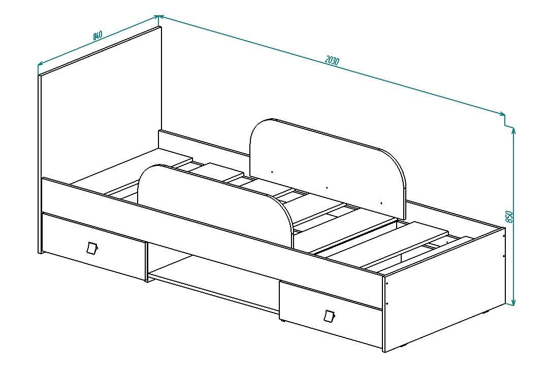 Кровать КР-28 Дружба от Столплит
