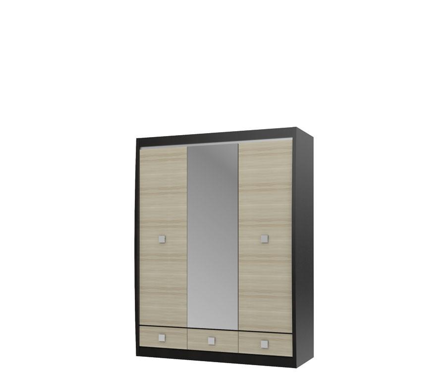 Фото - Ксено СТЛ.078.16 Шкаф с зеркалом 3-х дверный с 3-мя ящиками шкаф с зеркалом тифанистл 305 01