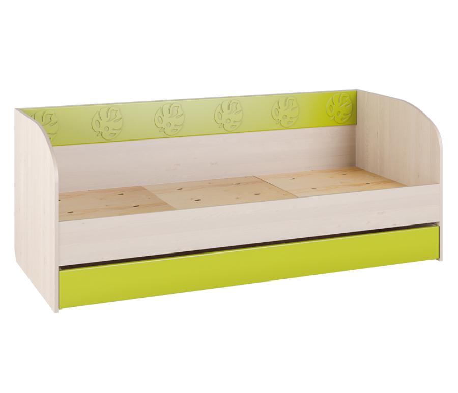 Маугли МДМ-12 кроватьДетские кровати<br><br><br>Длина мм: 845<br>Высота мм: 750<br>Глубина мм: 1938<br>Цвет: Клен ванкувер/Лайм глянец