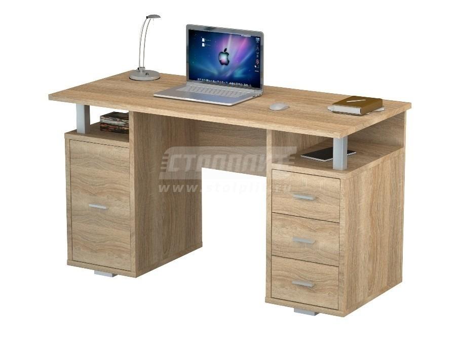 Стол письменный ПС 4007Письменные столы<br><br><br>Длина мм: 1300<br>Высота мм: 750<br>Глубина мм: 600