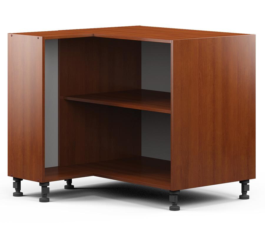 Регина РСУ-90 Шкаф-Стол угловой (правый/левый)Мебель для кухни<br>Вместительный угловой шкаф для кухни. Ширина узкого бока: 286 мм.<br><br>Длина мм: 880<br>Высота мм: 820<br>Глубина мм: 883