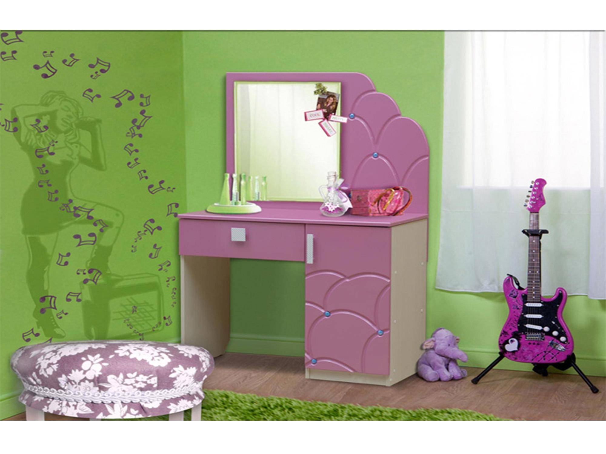 Стол туалетный с зеркалом МальвинаТуалетные столики<br><br><br>Длина мм: 905<br>Высота мм: 1390<br>Глубина мм: 450
