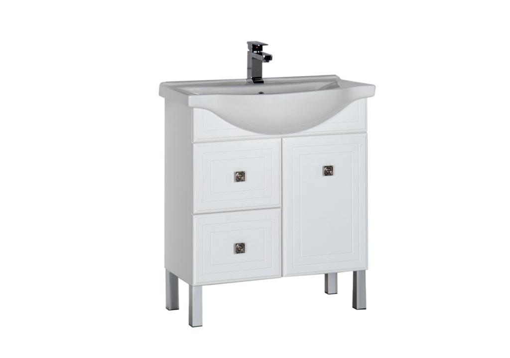 Тумба Aquanet Стайл 75 белый (1 дверца 2 ящика)Тумбы с раковиной для ванны<br><br><br>Длина мм: 0<br>Высота мм: 0<br>Глубина мм: 0<br>Цвет: Белый Глянец