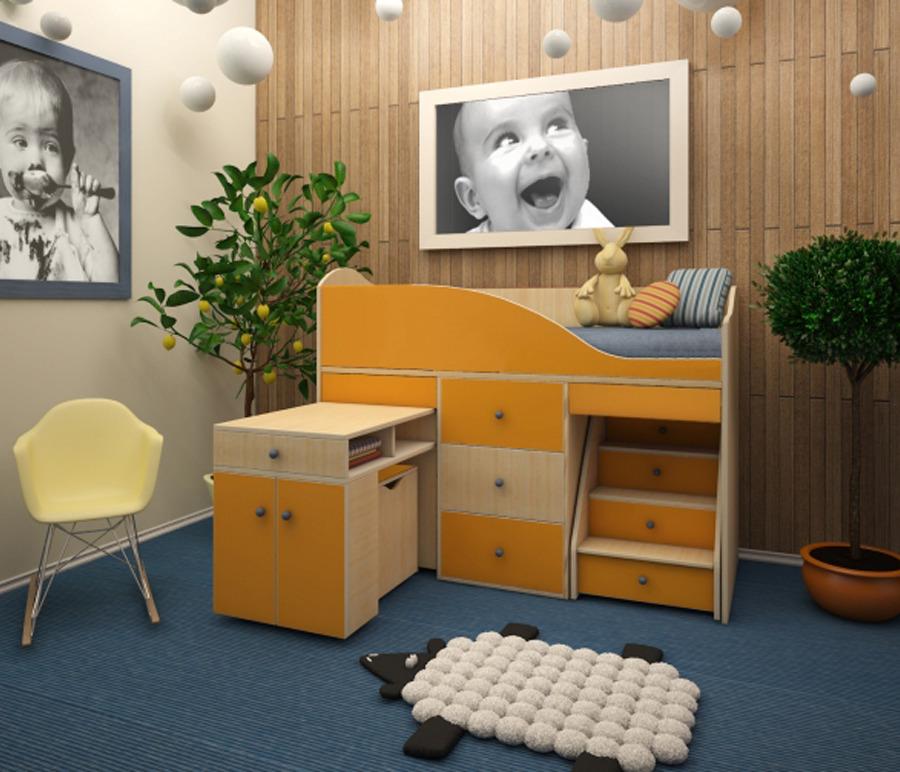 Детский комплекс Вжик с комодомДетские комнаты<br><br><br>Длина мм: 1640<br>Высота мм: 1160<br>Глубина мм: 740