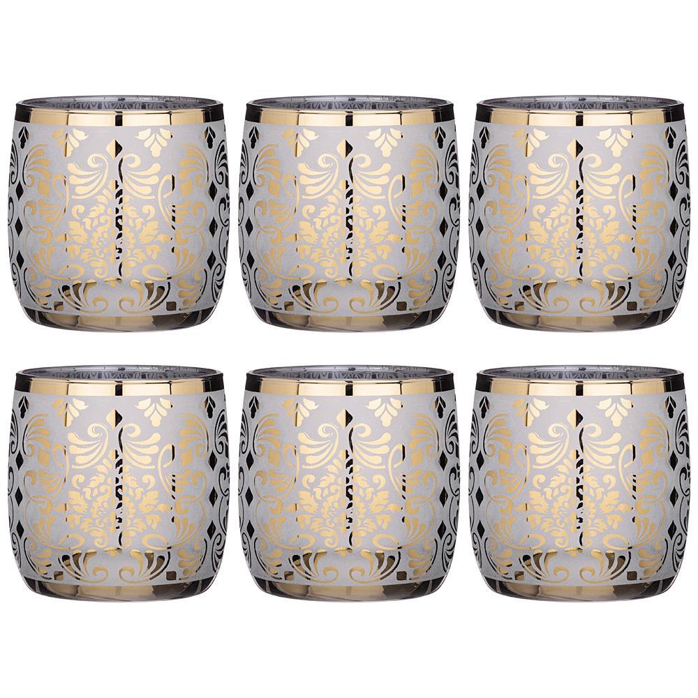 Набор 6 стаканов 310 мл либерти набор стаканов glasstar графитовый омбре 310 мл 6 шт