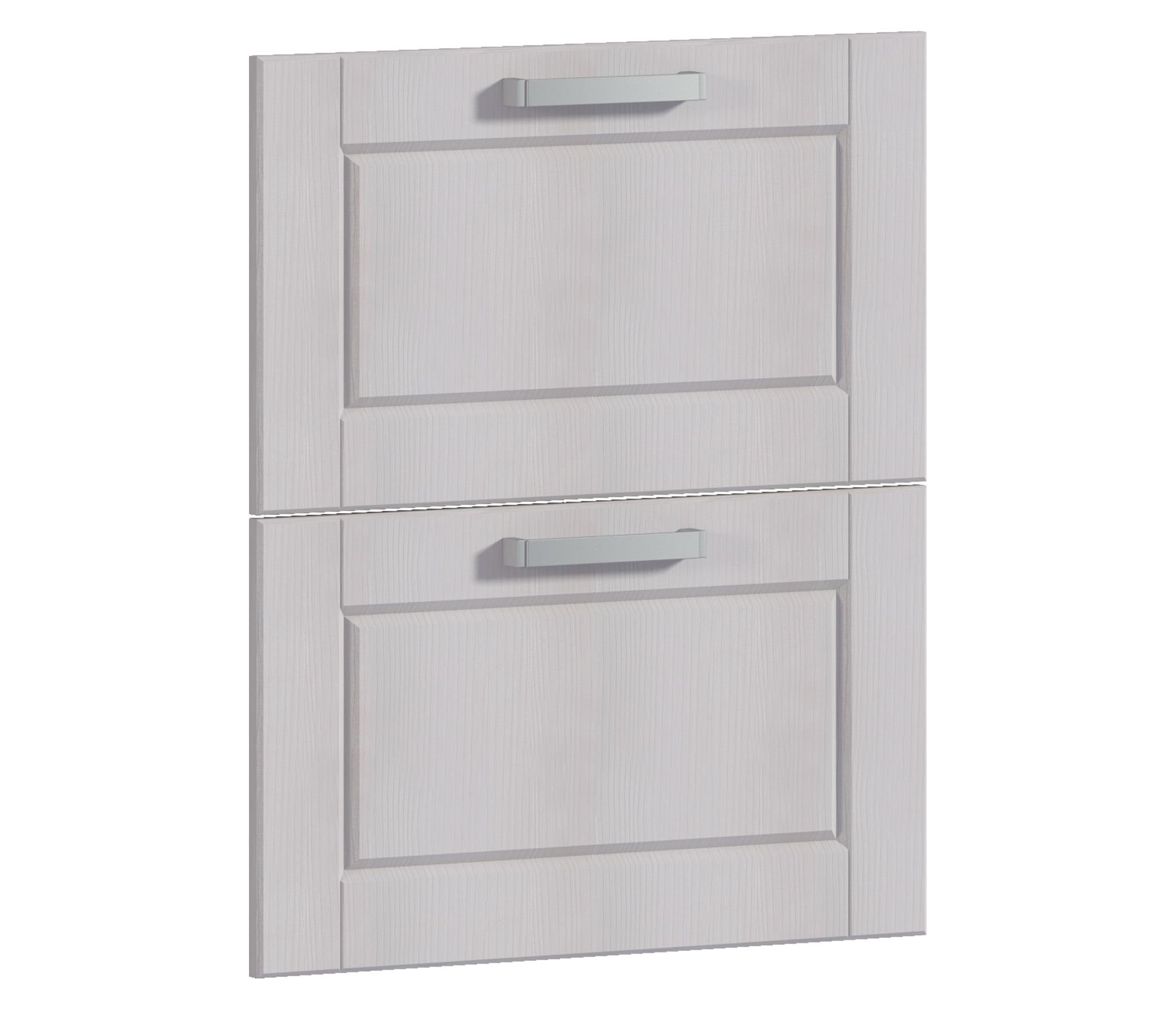 Фасад Регина Н-60 к корпусу РСЯ-60Мебель для кухни<br>Две панели с ручками для ящиков шкафа.<br><br>Длина мм: 596<br>Высота мм: 713<br>Глубина мм: 22