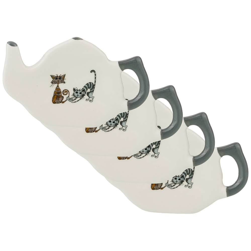 Набор подставок под чайный пакетик Озорные коты недорого