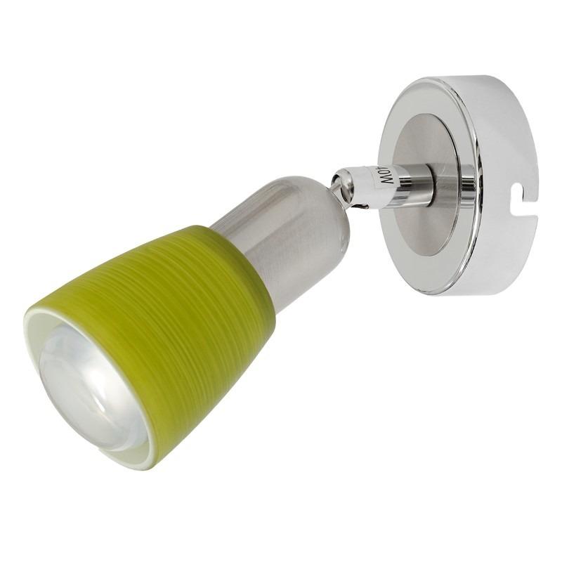 Мона хром/зеленый 1*40W Е14 220 V спот