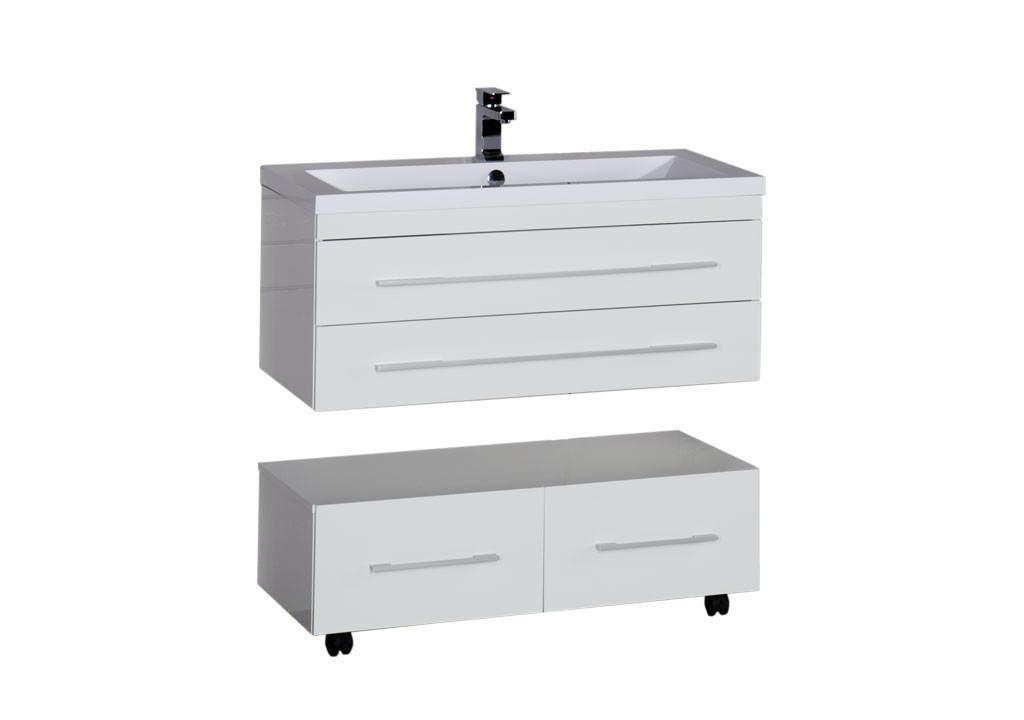 Тумба Aquanet Нота 100 белыйТумбы с раковиной для ванны<br><br><br>Длина мм: 0<br>Высота мм: 0<br>Глубина мм: 0<br>Цвет: Белый Глянец