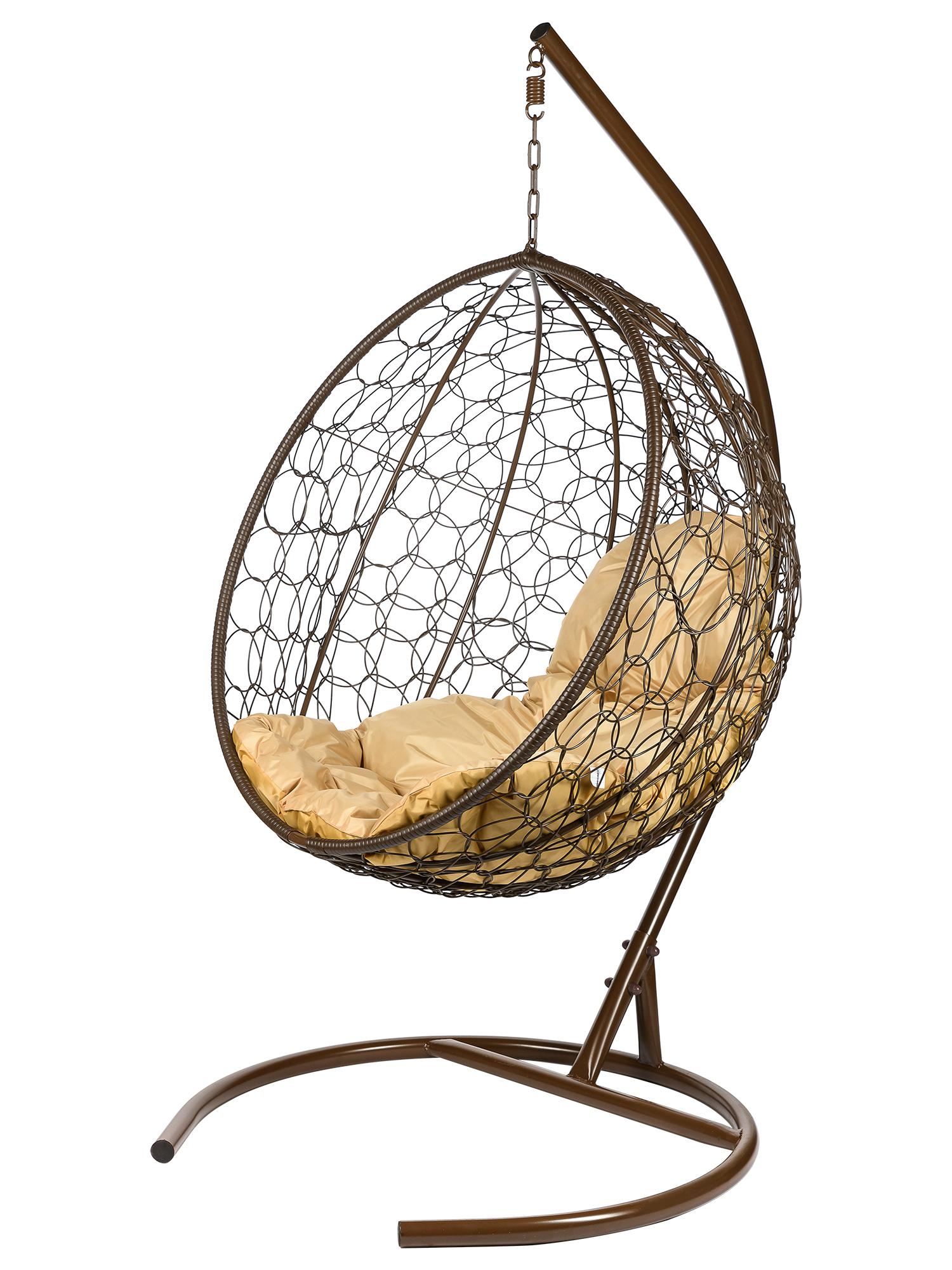 Подвесное кресло из ротанга Kokos Brown мебель из ротанга