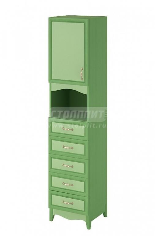 Купить Шкаф узкий 1-дверный с 5-ю ящиками и 1-й полкой. в интернет магазине мебели СТОЛПЛИТ