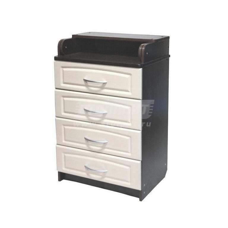 Купить Комод Ульяна 4 МДФ 600/4 ящ. венге/клён натуральный в интернет магазине мебели СТОЛПЛИТ