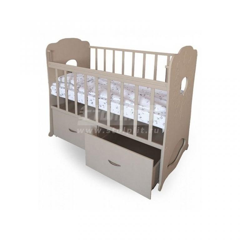Купить Детская кроватка Кубаночка-2 белый GL000134822 в интернет магазине мебели СТОЛПЛИТ