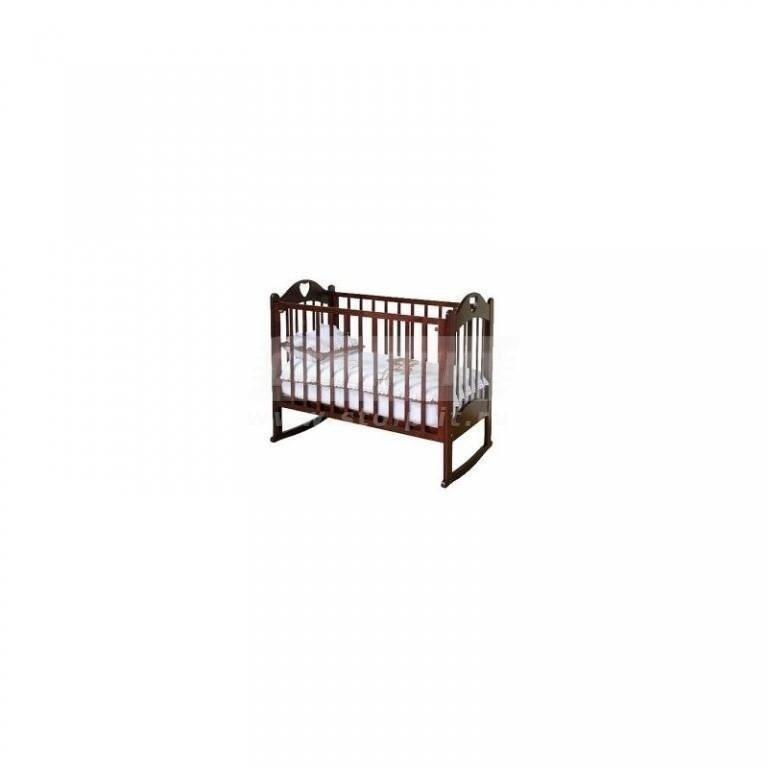 Купить Кроватка детская Любаша колесо/качалка (Можга) в интернет магазине мебели СТОЛПЛИТ
