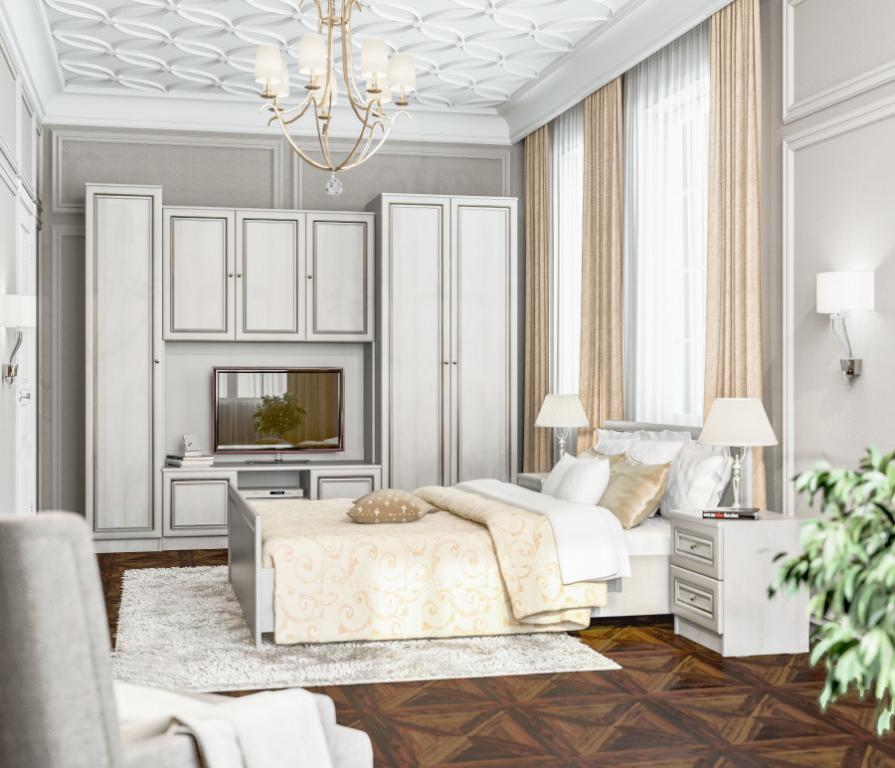 Купить Венеция Дуб Ривер комплект для спальни в интернет магазине мебели СТОЛПЛИТ