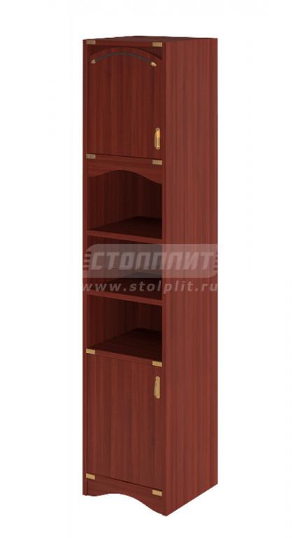 Купить Шкаф узкий, книжный, двухдверный в интернет магазине мебели СТОЛПЛИТ