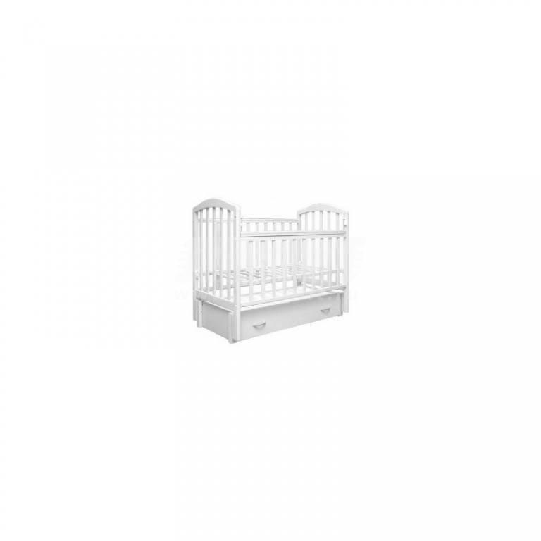 Купить Кровать детская Алита маятник-качалка, с ящиком, (бел) в интернет магазине мебели СТОЛПЛИТ