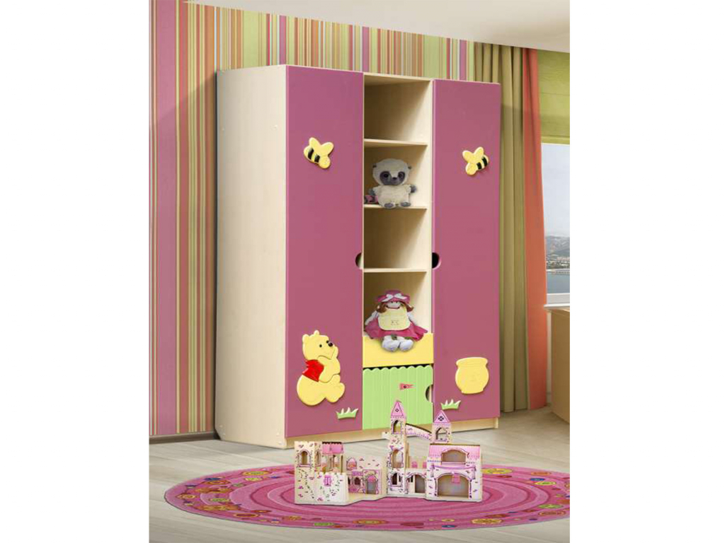 Купить Шкаф трехдверный Медвежонок в интернет магазине мебели СТОЛПЛИТ