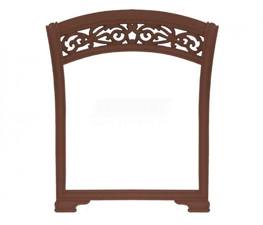 Купить Мебель для спальни Александрия (Орех) Зеркало навесное (ППУ) 625.200 в интернет магазине мебели СТОЛПЛИТ