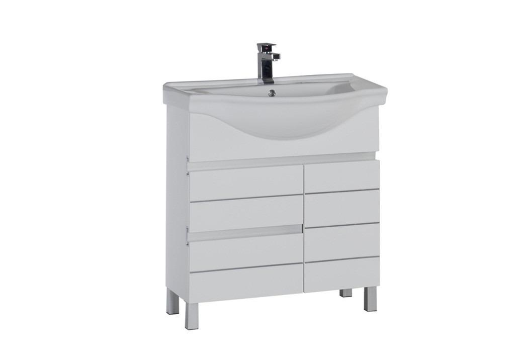 Купить Тумба Aquanet  Доминика 80 б\к белый в интернет магазине мебели СТОЛПЛИТ
