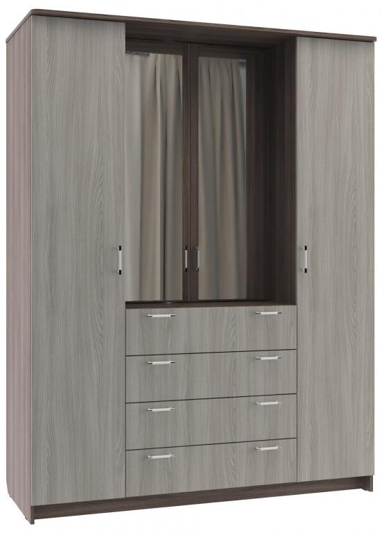 Купить Шкаф шкаф-комод 4-х створчатый без зеркала в интернет магазине мебели СТОЛПЛИТ