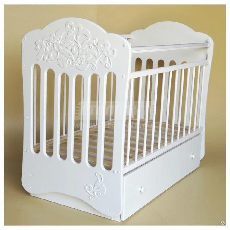 Купить Кровать детская Виола маятник поперечный с ящ, (белый) в интернет магазине мебели СТОЛПЛИТ