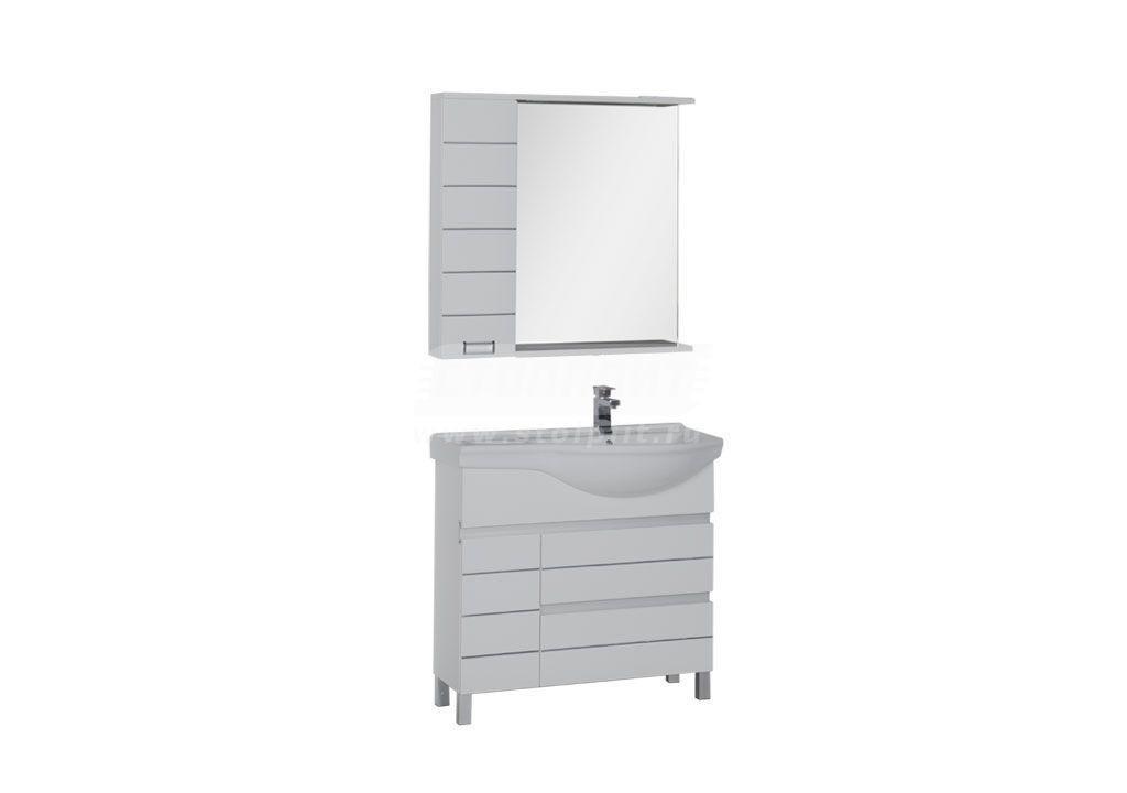 Купить Комплект мебели Aquanet Доминика 90 R белый в интернет магазине мебели СТОЛПЛИТ