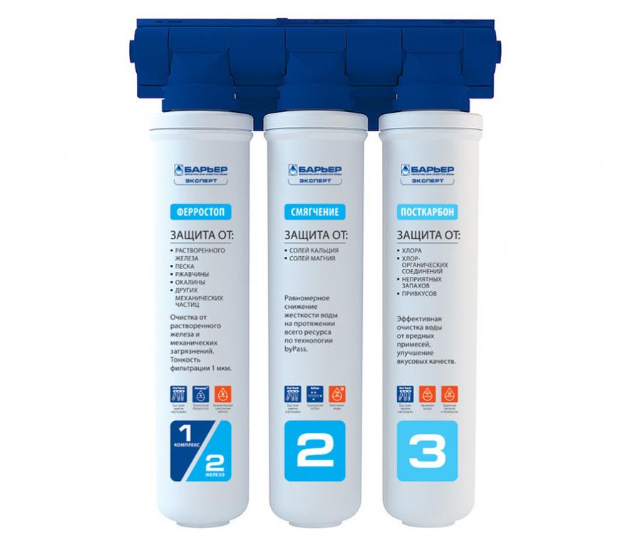 Купить Фильтр для очистки воды под мойку Барьер Expert Complex (стандартная очистка, обезжелезивание, снижение жёсткости) в интернет магазине мебели СТОЛПЛИТ