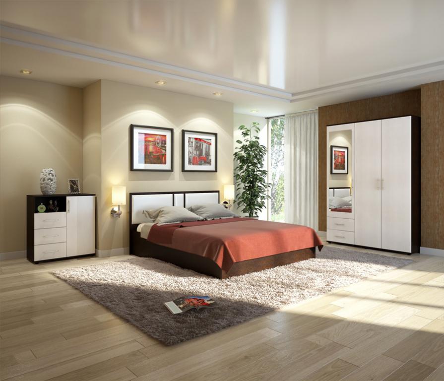 Купить Милена спальня комплект дуб феррара/вудлайн крем в интернет магазине мебели СТОЛПЛИТ