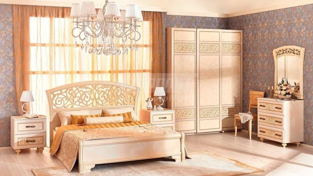 Купить Мебель для спальни Александрия (Кожа Ленто) в интернет магазине мебели СТОЛПЛИТ