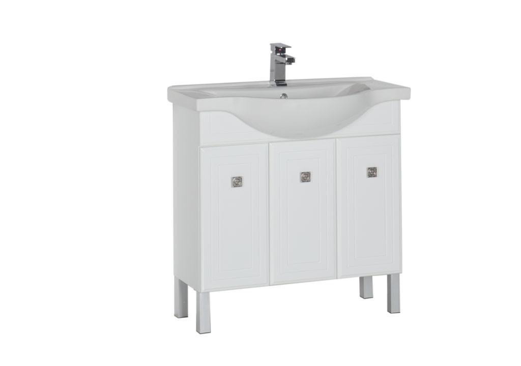 Купить Тумба Aquanet Стайл 85 белый (3 дверцы) в интернет магазине мебели СТОЛПЛИТ