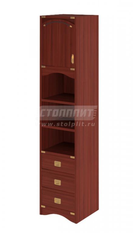 Купить Шкаф узкий 1-дверный с 3-мя ящиками и 2-мя полками в интернет магазине мебели СТОЛПЛИТ
