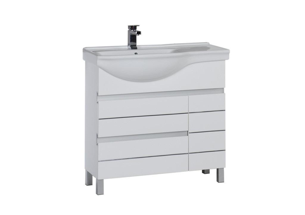 Купить Тумба Aquanet  Доминика 90 L белый в интернет магазине мебели СТОЛПЛИТ