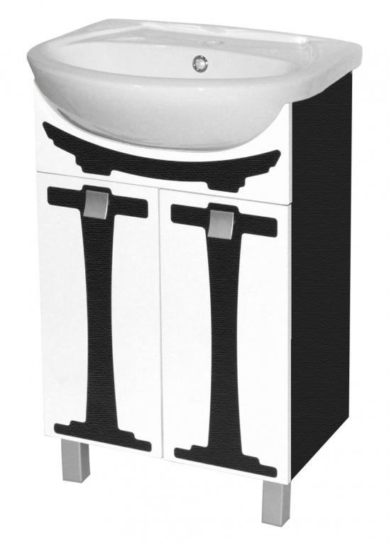 Купить Тумба напольная Сатори 55 венге под раковину в ванную (раковина Erica в комплекте) в интернет магазине мебели СТОЛПЛИТ