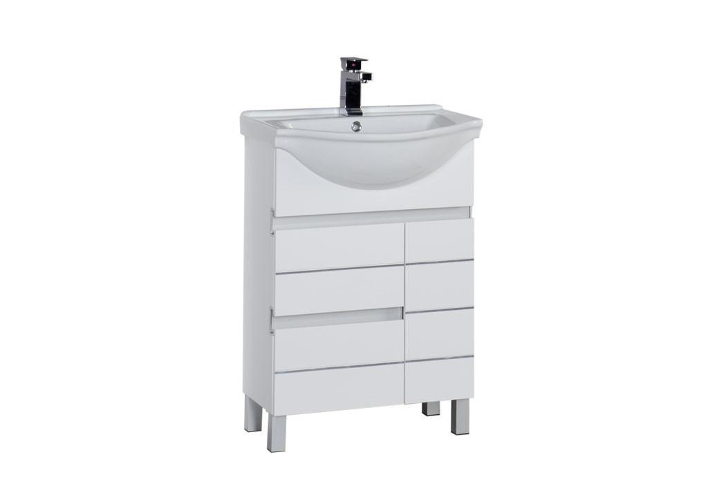 Купить Тумба Aquanet Доминика 60 белый в интернет магазине мебели СТОЛПЛИТ