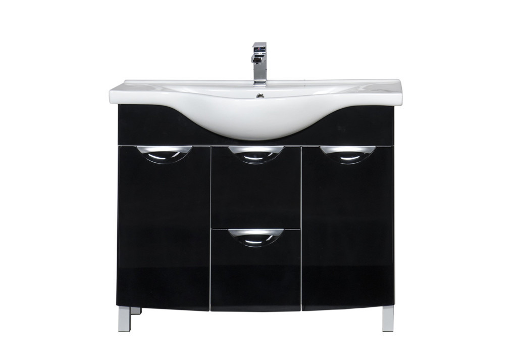 Купить Тумба Aquanet Асти 105 б/к черный в интернет магазине мебели СТОЛПЛИТ