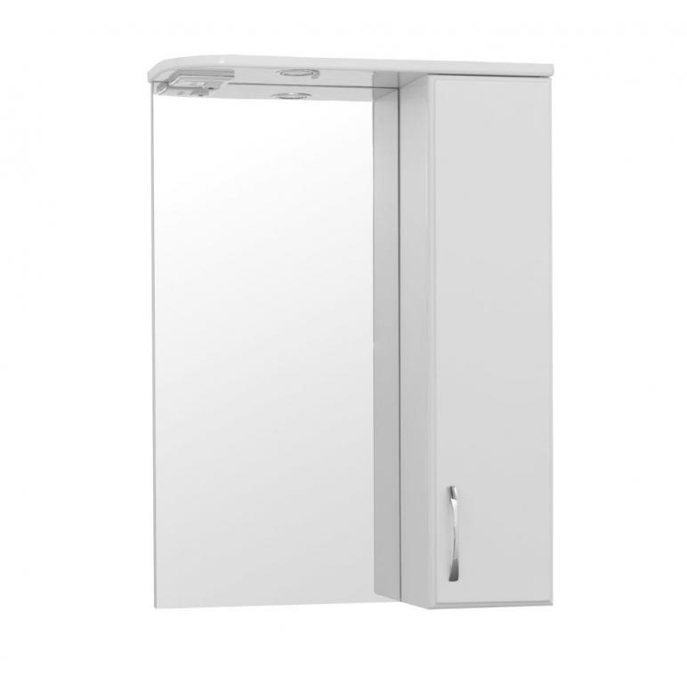 Купить Шкаф зеркальный (зеркало в ванную) Турин-3 (Панда-3) 55 с подсветкой в интернет магазине мебели СТОЛПЛИТ