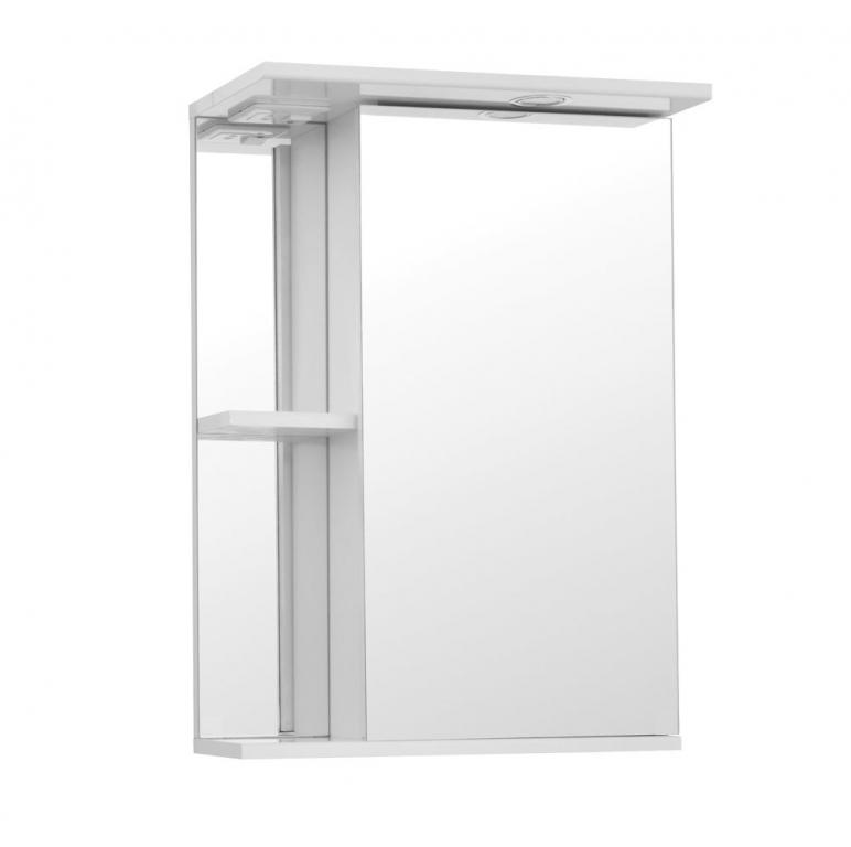 Купить Шкаф зеркальный (зеркало в ванную) Николь 50 со светом в интернет магазине мебели СТОЛПЛИТ