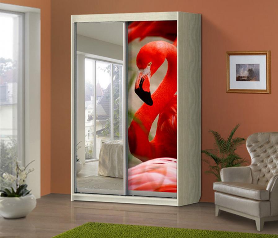 Купить Шкаф-купе 2-х створчатый Фламинго в интернет магазине мебели СТОЛПЛИТ