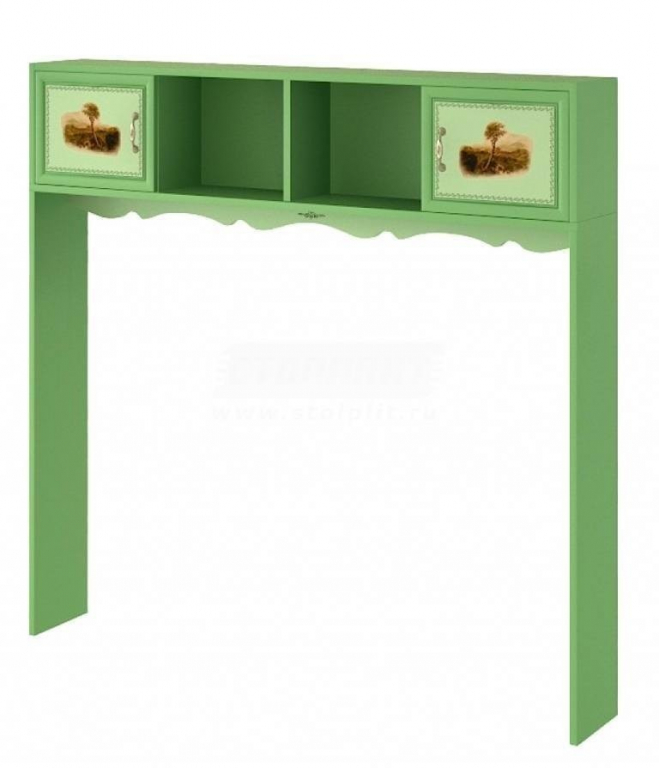 Купить Антресоль-полка (широкая) 2-х дверная, со стойками. в интернет магазине мебели СТОЛПЛИТ