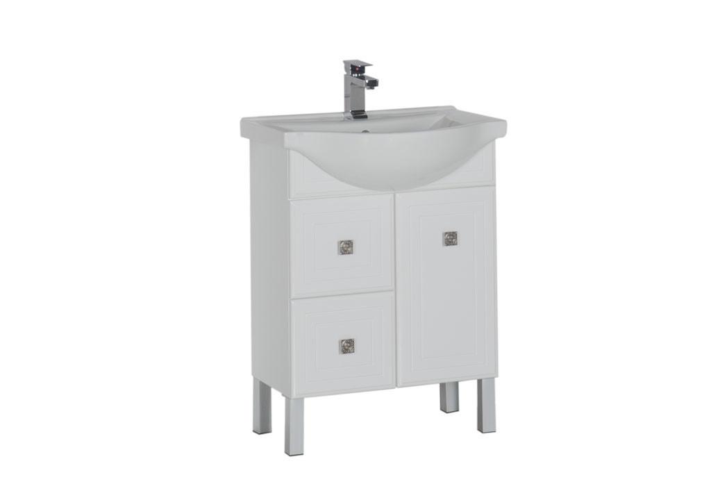 Купить Тумба Aquanet Стайл 65 белый (1 дверца 2 ящика) в интернет магазине мебели СТОЛПЛИТ