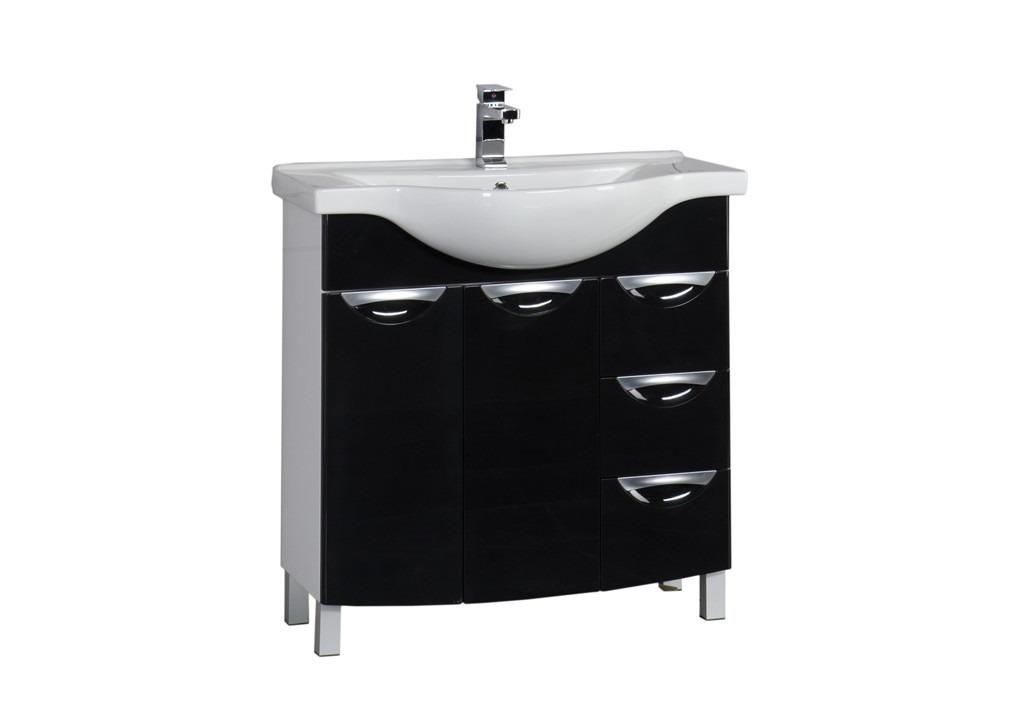 Купить Тумба Aquanet Асти 85 черный в интернет магазине мебели СТОЛПЛИТ