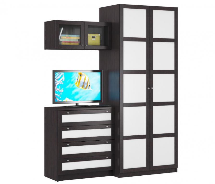 Купить Камелия Венге Палеа комод + полка + шкаф в интернет магазине мебели СТОЛПЛИТ