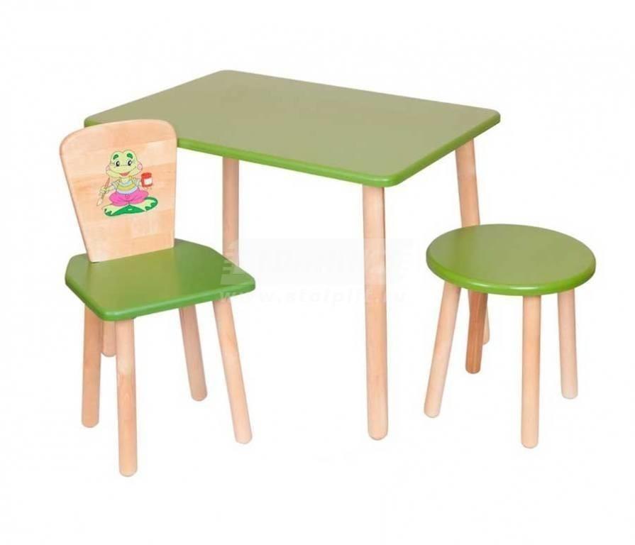 Купить Набор №4 Столик со стульчиком и табуреткой в интернет магазине мебели СТОЛПЛИТ