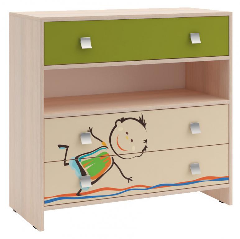Купить Комод для детской Дружба 1 в интернет магазине мебели СТОЛПЛИТ