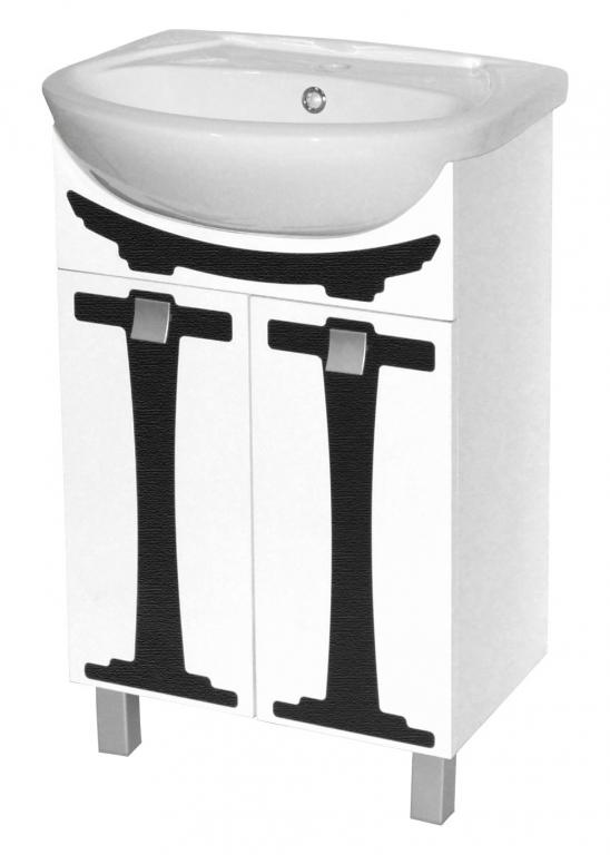 Купить Тумба напольная Сатори 55 белая в ванную (раковина Эрика в комплекте) в интернет магазине мебели СТОЛПЛИТ