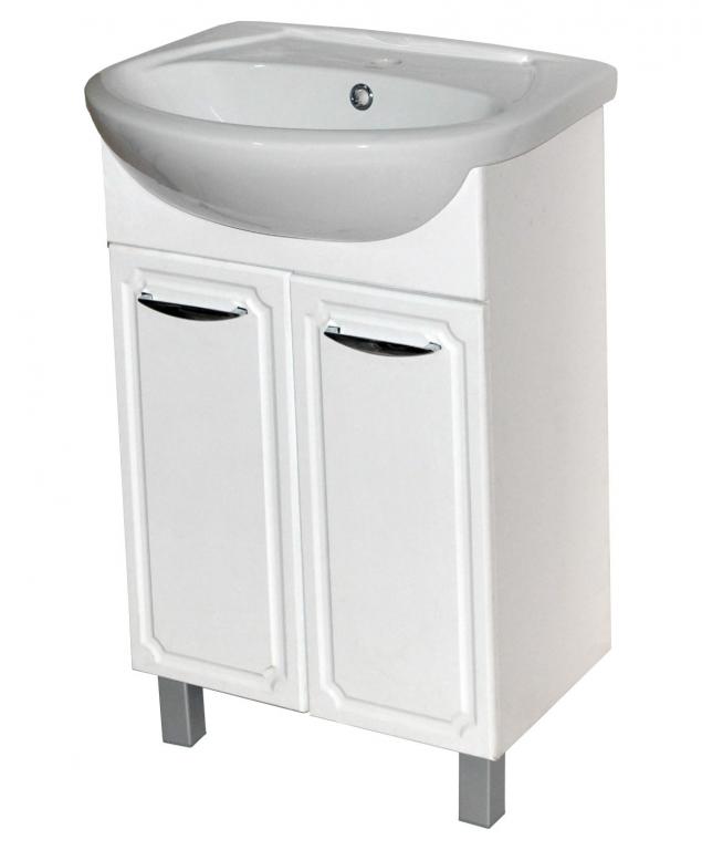Купить Тумба под раковину в ванную напольная Грация 60 белая (раковина в комплекте) в интернет магазине мебели СТОЛПЛИТ