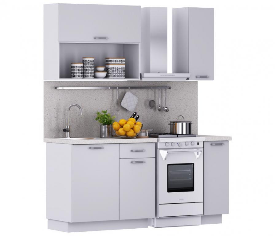 Купить Надежда Кухня 1200 Белый (столешница Сонора + мойка круглая) в интернет магазине мебели СТОЛПЛИТ