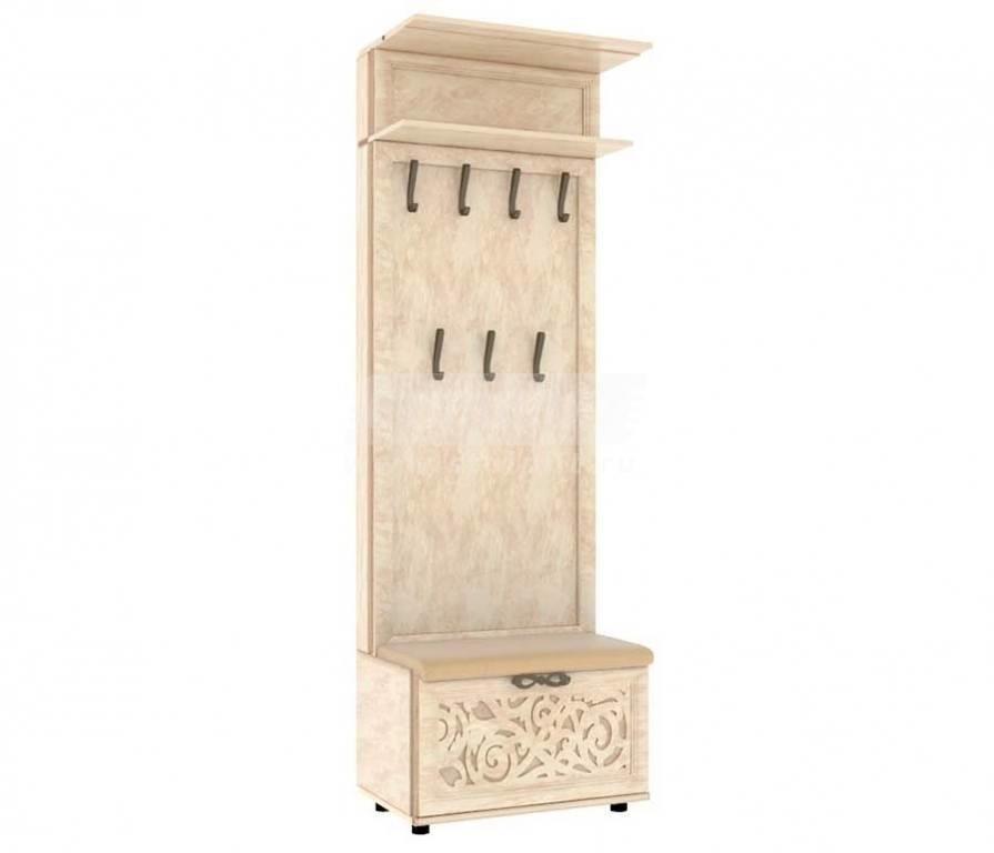 Купить Мебель для прихожей Александрия (Кожа Ленто) Комбинированная вешалка 125.090 в интернет магазине мебели СТОЛПЛИТ